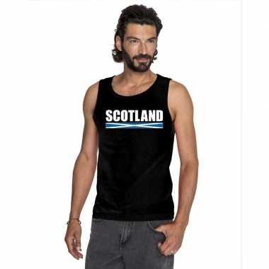 Schotland supporter mouwloos shirt/ tanktop zwart heren