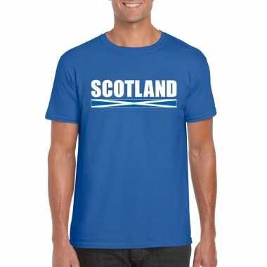 Schotse supporter t shirt blauw heren