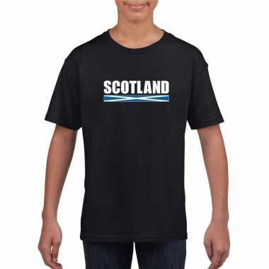 Schotse supporter t shirt zwart kinderen