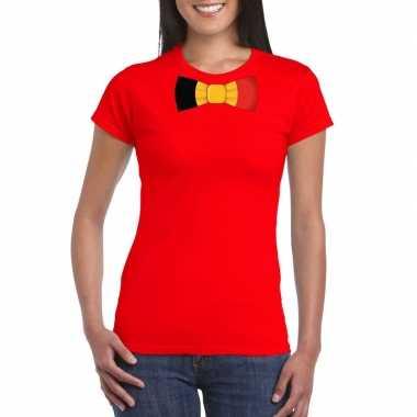 Shirt belgie strikje rood dames