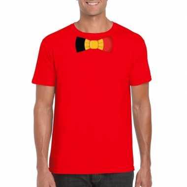 Shirt belgie strikje rood heren