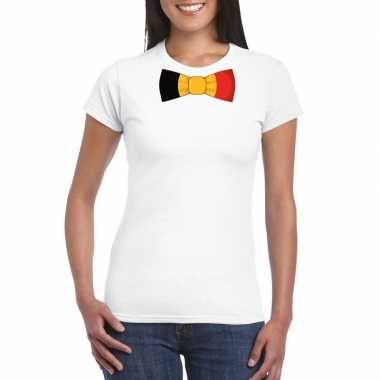 Shirt belgie strikje wit dames