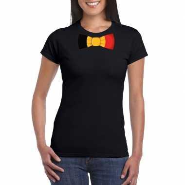 Shirt belgie strikje zwart dames