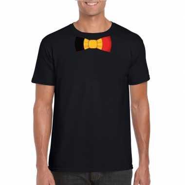 Shirt belgie strikje zwart heren