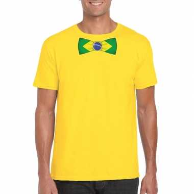 Shirt brazilie strikje geel heren