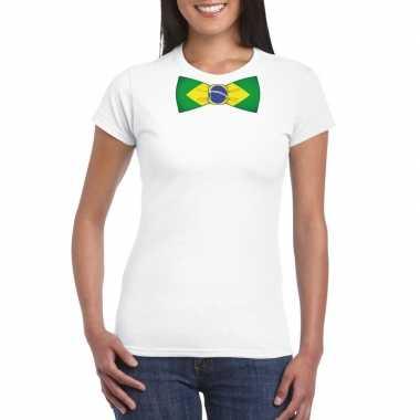 Shirt brazilie strikje wit dames