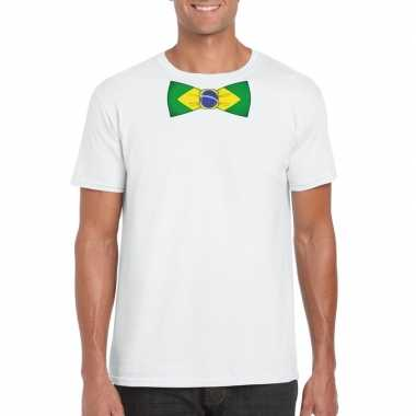 Shirt brazilie strikje wit heren