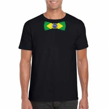 Shirt brazilie strikje zwart heren