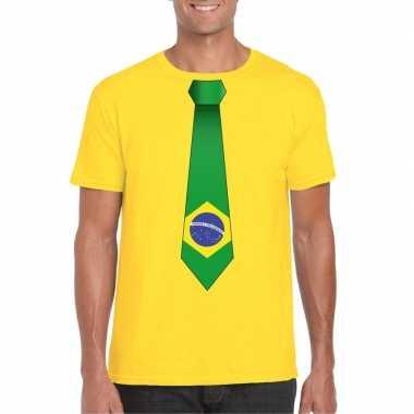 Shirt brazilie stropdas geel heren