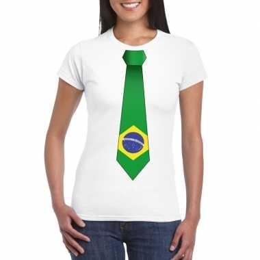 Shirt brazilie stropdas wit dames