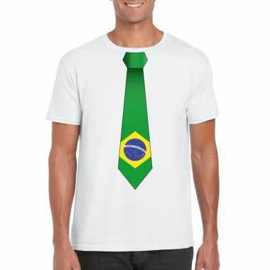 Shirt brazilie stropdas wit heren