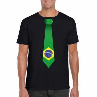 Shirt brazilie stropdas zwart heren