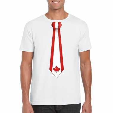 Shirt canada stropdas wit heren