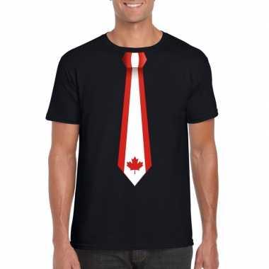 Shirt canada stropdas zwart heren