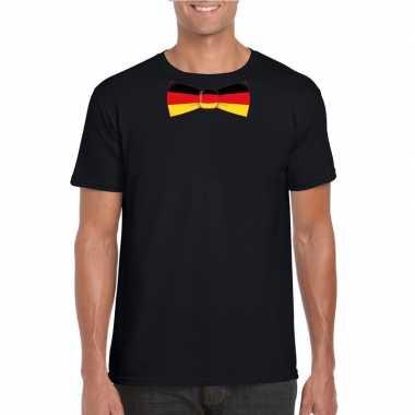 Shirt duitsland strikje zwart heren