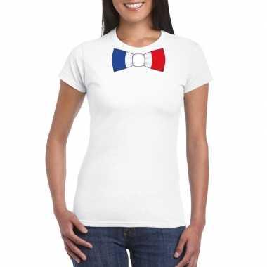 Shirt frankrijk strikje wit dames