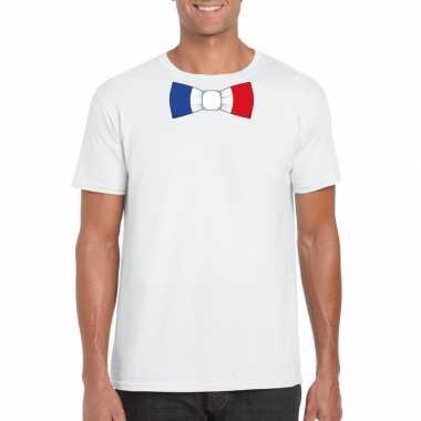 Shirt frankrijk strikje wit heren