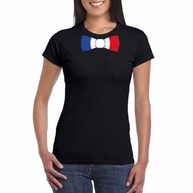 Shirt frankrijk strikje zwart dames
