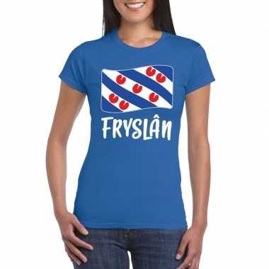 Shirt friese vlag blauw dames