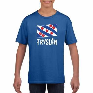 Shirt friese vlag blauw kinderen