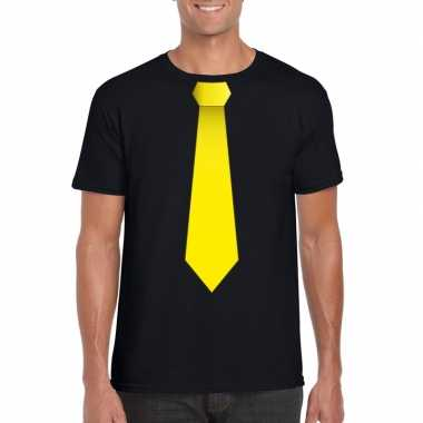 Shirt gele stropdas zwart heren