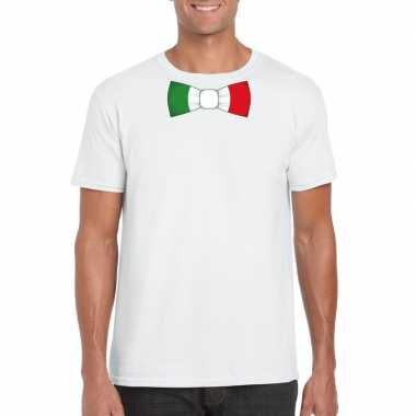 Shirt italie strikje wit heren