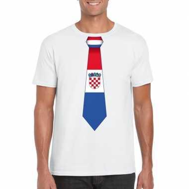 Shirt kroatie stropdas wit heren