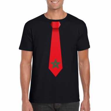 Shirt marokko stropdas zwart heren