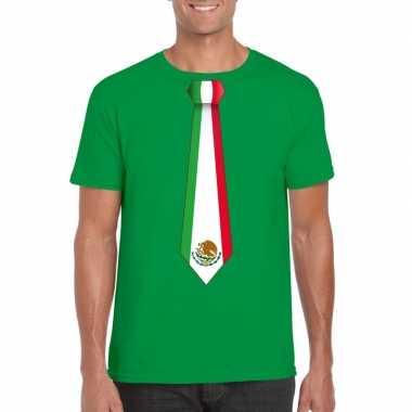 Shirt mexico stropdas groen heren