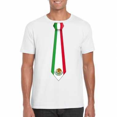 Shirt mexico stropdas wit heren