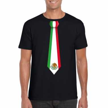 Shirt mexico stropdas zwart heren