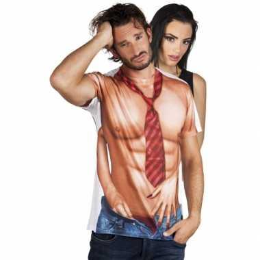 Shirt naakte man opdruk