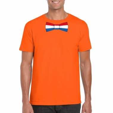 Shirt nederland strikje oranje heren