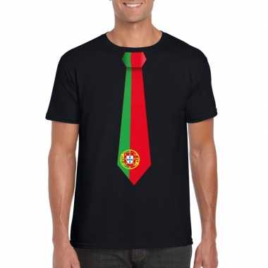 Shirt portugal stropdas zwart heren