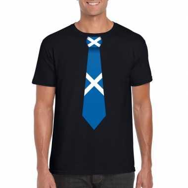 Shirt schotland stropdas zwart heren