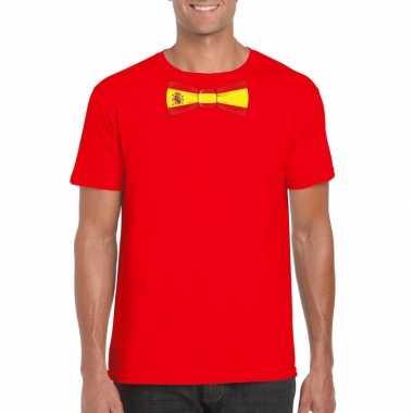 Shirt spanje strikje rood heren
