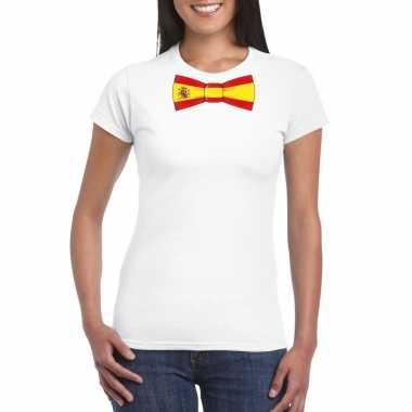 Shirt spanje strikje wit dames