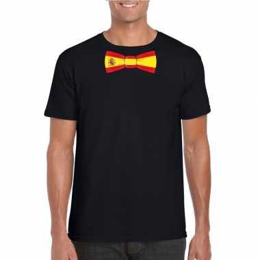 Shirt spanje strikje zwart heren