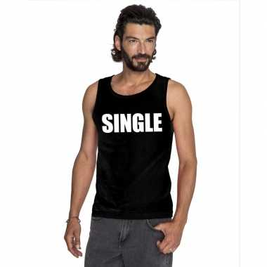 Single mouwloos shirt zwart heren