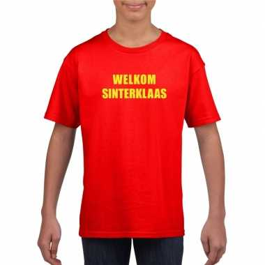Sinterklaas t-shirt welkom sinterklaas kinderen rood