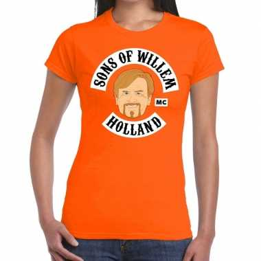 Sons of willem t shirt oranje dames