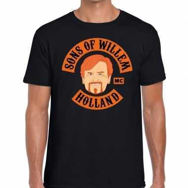 Sons of willem t shirt zwart heren