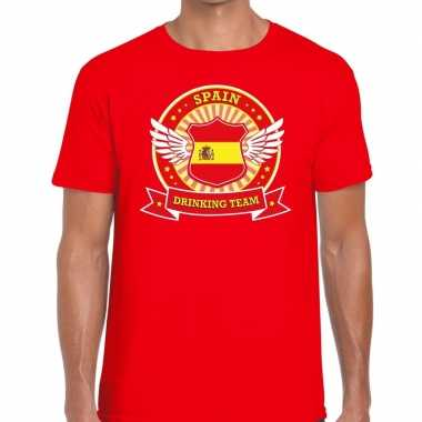 Spain drinking team t shirt rood heren