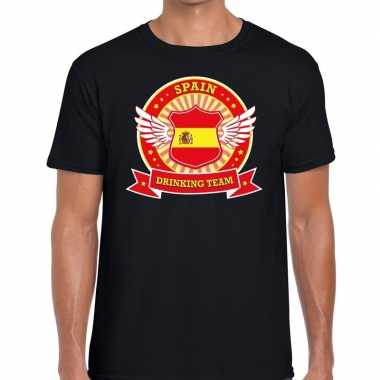 Spain drinking team t shirt zwart heren
