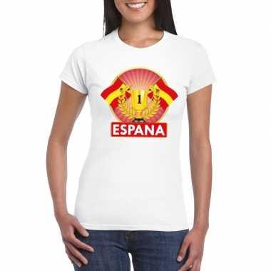 Spanje kampioen shirt wit dames
