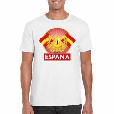 Spanje kampioen shirt wit heren