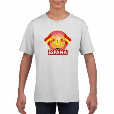 Spanje kampioen shirt wit kinderen