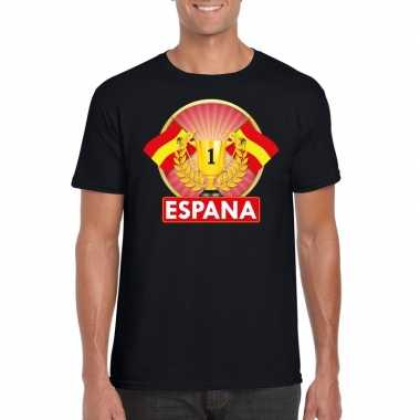 Spanje kampioen shirt zwart heren