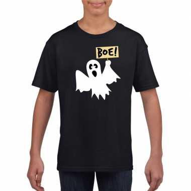 Spook halloween t shirt zwart jongens meisjes