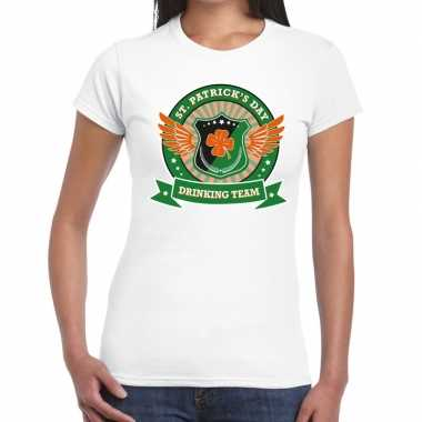 St. patrick's day drinking team t shirt wit dames